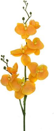 Цветок искусственный Фаленопсис оранжевый 75см Top Art Studio E024H-7