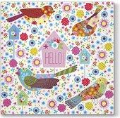 Салфетки ланч 3-х слойные Пастельные птицы, 33x33, 20шт Paw SDL094400