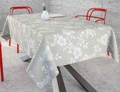 Скатерть водоотталкивающая Aitana Lempicka, 140x100см, серые цветы LEMP/140100/grey