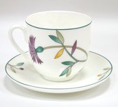 Чашка с блюдцем Гвоздика и нарцисс, ф. Ландыш-2 ИФЗ 81.25571.00.1