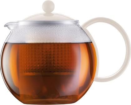 Чайник заварочный с прессом 1.0л, белый Bodum Assam 1844-913