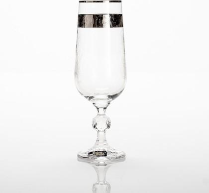 Бокалы для шампанского Crystalite Bohemia Клаудия, 6шт, 180мл 40149/180/435963K