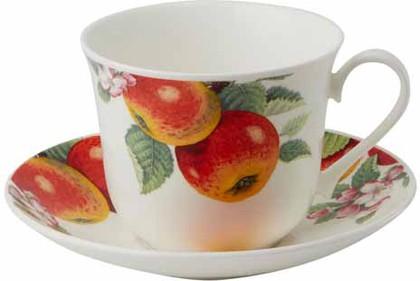 Чайная пара для завтрака Яблонька форма Джамбо, 450мл Roy Kirkham XFRUITTRE1165