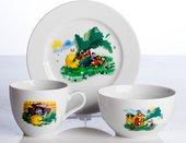 Набор детской посуды Porcelaine Czech Gold Hands Мультики, Репка, 3пр. DSRITA24/3