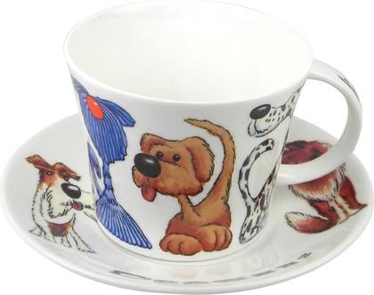 Чайная пара для завтрака Собаки 500мл Roy Kirkham XDOGZ1111/1112
