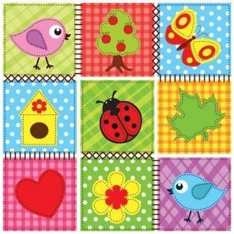Салфетки для декупажа Детская мозаика, 33x33см, 3 слоя, 20шт Paw SDL888000