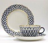 Набор чайный ИФЗ Тюльпан, Кобальтовая сетка, 3 предмета 81.10103.00.1