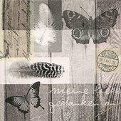 Салфетки для декупажа Стихотворение, 33x33см, 3 слоя, 20шт Paper+Design LN0805
