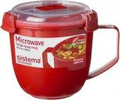 Кружка суповая 900мл Sistema Microwave 1141