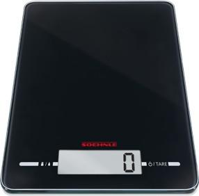 Весы кухонные электронные Soehnle Page Evolution Black чёрные 5кг/1гр 66178