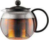 Чайник заварочный c прессом, 0.5л чёрный Bodum ASSAM 1812-01