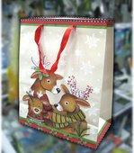 Пакет подарочный бумажный Paw Рудольф 26x13х33см AGB007005