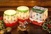 Свеча декоративная Bartek Candles Новогодние Игрушки, стакан 8x7.5см 5907602697186