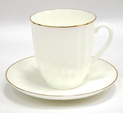 Чашка с блюдцем чайная 176мл Золотой кантик, ф. Ветерок ИФЗ 81.13630.00.1