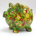 Копилка Pomme-Pidou Свинья Peggy светло-зелёная 148-00025/D