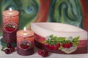 Свеча Вишня, блок 7x9см Bartek Candles 5907602691887