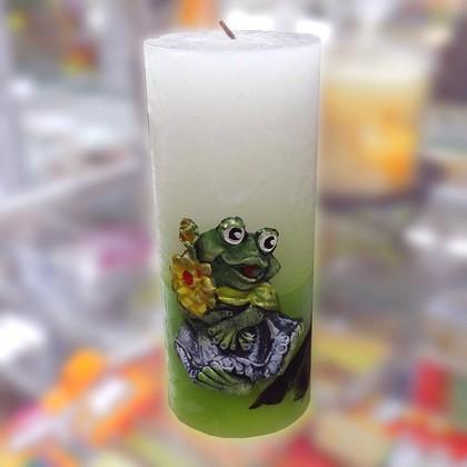 """Свеча """"Лягушка"""", колонна 7х18см Bartek Candles 235012"""