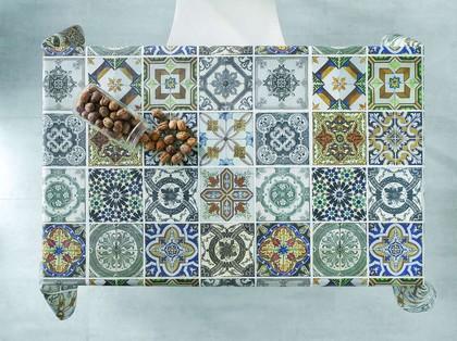 Скатерть текстильная 140х200см, пэчворк Aitana Digital01 DP01/140200/patch