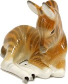 Скульптура ИФЗ Зебрёнок лежащий, фарфор 82.01034.00.1