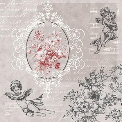 Салфетки Ангелы среди цветов, 33x33, 20шт Paw SDL089400