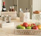 Органайзер кухонный T&G Nordic White с перемычкой 27311