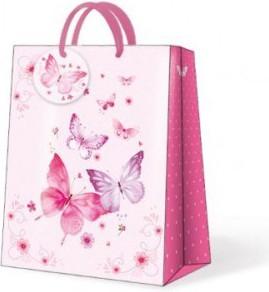 Пакет подарочный бумажный Paw Бабочки пестрые 20x10x25см AGB018503