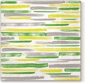 Салфетки для декупажа Paw Акварельные зеленые в полоску, 33x33см, 20шт SDL120206