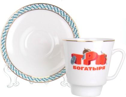 Чашка с блюдцем ИФЗ Майская, Три богатыря 81.24805.00.5