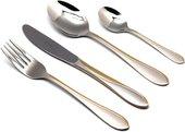 Набор столовых приборов Herdmar Miami, 72 предмета, зеркальная полировка, матовый, золото 06430720900E07