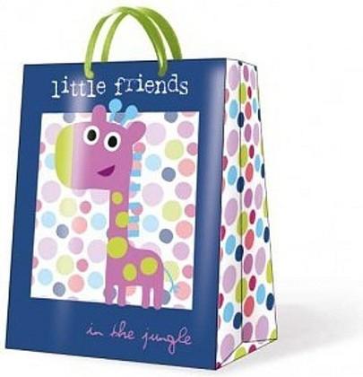 "Paw JUNGLE LITTLE FRIENDS BLUE Пакет подарочный ""Маленькие друзья"", фон синий, 6,3x33x13,5см, артикул AGB015405"