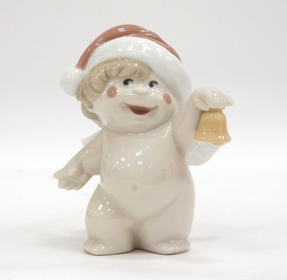 Статуэтка фарфоровая Новогодний Ангелочек (Cheeky Santa) 9см NAO 02005058