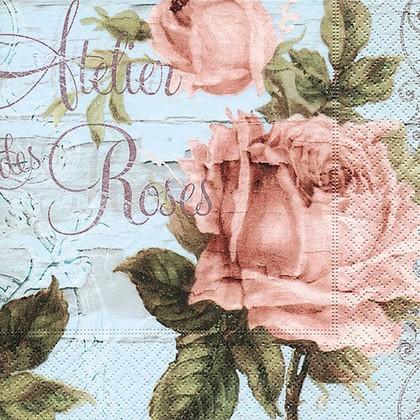 Салфетки для декупажа Cеминар роз, 33x33см, 3 слоя, 20шт Paper+Design 21833