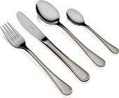 Набор столовых приборов Herdmar Marlene, 24 предмета, зеркальная полировка, матовый, золото 051302409ELE10