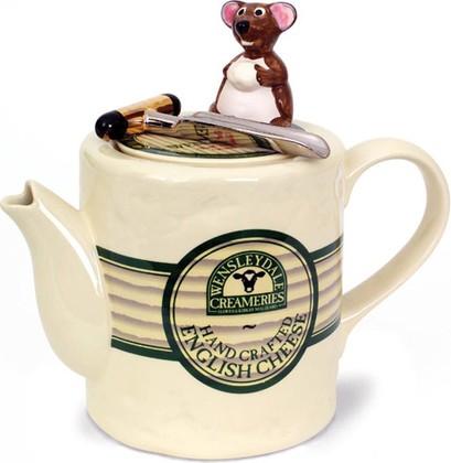 """Чайник заварочный """"Рокфор"""" (сыр с мышкой) The Teapottery 4472"""