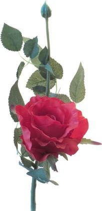 Цветок искусственный Роза Лимбо с почкой красная 30см Top Art Studio WAF0600-TA