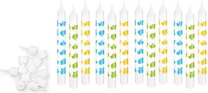 Свечи для торта с подставками 8см, 12шт. Tescoma DELICIA KIDS 630980
