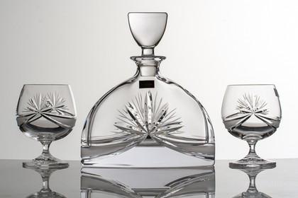 """Набор для бренди """"Нэмо"""" (Машле Бант) графин 700мл + 2 стакана 320мл Crystalite Bohemia 99999/9/17131/126"""
