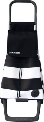 Сумка-тележка хозяйственная черно-белая ROLSER Joy-1800 BAB003blanco/negro
