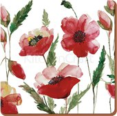 Подставки под чашку Creative Tops Цветочная идиллия 10.5x10.5, 6шт, пробка 5176717
