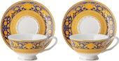 Чайная пара Top Art Studio Версаль Синее Золото, 180мл, набор 2 пары SC2479-TA