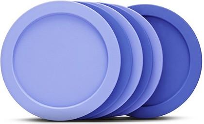 Набор из 6 силиконовых подставок под стаканы, синие Brabantia 621048