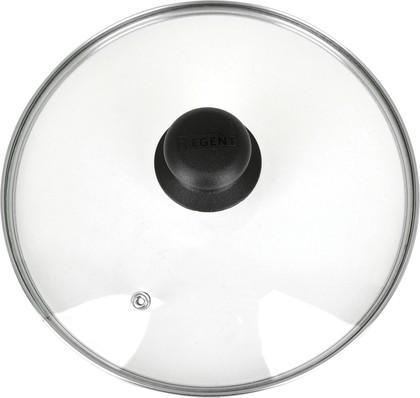 Крышка 20 см Regent с пароотводом, стекло 93-LID-01-20