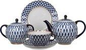 Сервиз чайный ИФЗ Тюльпан, Кобальтовая сетка, 20 предметов 81.11141.03.1