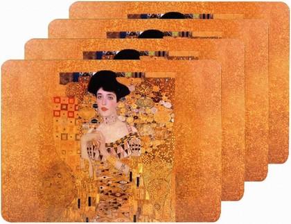 Подставки на пробке Климт Золотая Адель 4шт 30x20см The Leonardo Collection LP92695