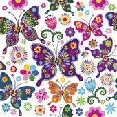 Салфетки для декупажа Красочные бабочки 33x33, 3-сл, 20шт Paw TL566000