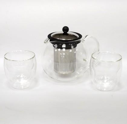 Набор чайный Baron, 3 предмета (чайник 1л, термобокалы 2x0.25л) Walmer W03113100