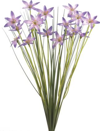 """Цветок искусственный """"Цветочные звёзды в траве"""", пурпурные 45см Floralsilk 11648PU"""