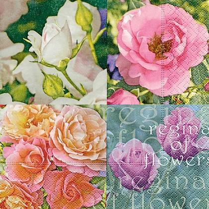 Салфетки для декупажа Выбор роз, 33x33см, 3 слоя, 20шт Paper+Design 21696