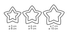 Двухсторонние формочки звезды, 6 размеров Tescoma DELICIA 630864.00