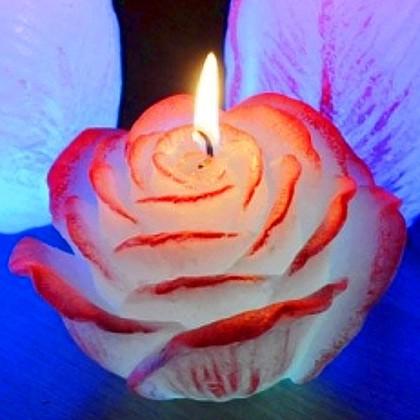 "Свеча ""Роза"", с подсветкой, 12х7см Bartek Candles 175126"